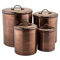 Hammered Antique Copper Pantryware Collection by Old Dutch International