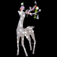 SheilaShrubs.com: Pre-Lit Jeweled Crystal Chandle-Deer (Multi-Colored) 84520X by Gemmy Industries: Christmas Outdoor Decor