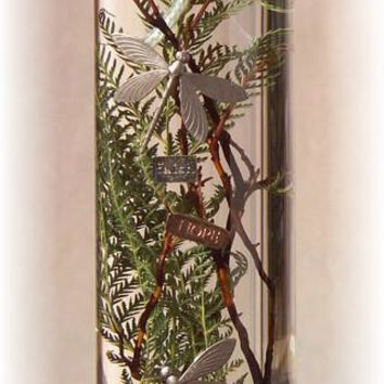 "Large Cylinder Oil Candle-Dragonflies, 12""x4"", 128oz"