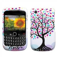 MYBAT BB8520HPCIM682NP Slim and Stylish Protective Case for BlackBerry Curve 8520/8530/9300/9330 - 1 Pack - Retail Packaging - Love Tree