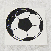 3x3 Inch Soccer Insignia Athletic Graphic Permanent Vinyl Decal/Bumper Sticker