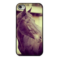 Horse Iphone case - iphone 4 4s cover - horse - animal - unique iphone case - girly - equestrian - phone accessory - vintage horse
