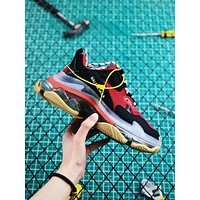 Balenciaga Triple S Clear Sole Trainers Red/Black Sneakers