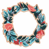 Floral Wreath Large Back Patch