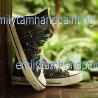 Geometric Converse Sneakers,Custom Converse, Fashion Shoes, Special Gifts for Boys and Girls