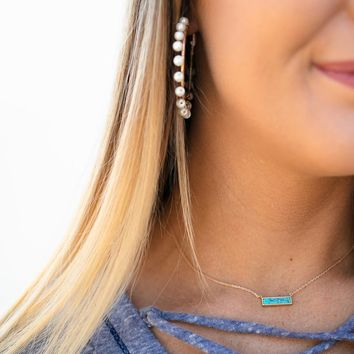Just Once Turquoise Stone Necklace
