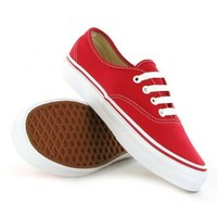 Vans AUTHENTIC Red Skate Shoes - Size 10