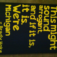Michigan College Football 16 in x 20in canvas quote