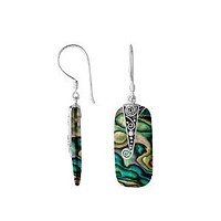 AE-1149-AB Sterling Silver Earring With Abalone Shell