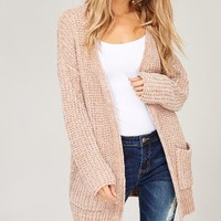 Chenille Cardigan - Taupe