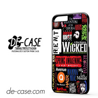 Broadway Musical Collage DEAL-2123 Apple Phonecase Cover For Iphone 6 / 6S