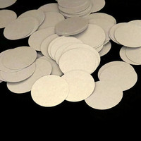 100 Silver Circles Confetti - New Years Eve Decorations - Wedding Decor #confetti, #silver, #circles, #NewYearsEve, #party, #decorations