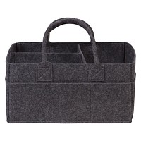 Diaper Caddy - Charcoal Gray Felt Storage Caddy