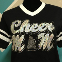 Bling Cheer Mom Shirt by CheeksLittleBoutique on Etsy