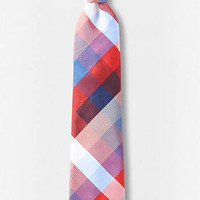 Multicolor Checked Narrow Silk Tie from EXPRESS