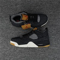 Air Jordan 4 Retro Levis NRG Black Sneaker