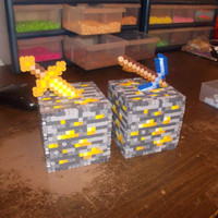 Minecraft Inspired Gold Ore Bank