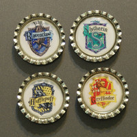 Harry Potter Bottlecap Magnet Choose from one of by susieqdesigns
