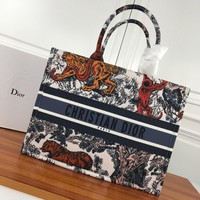 Dior Women's Canvas Book Tote Bag Shopping Bag #551 - Best Deal Online