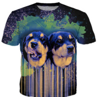 Psychedelic Rottweiler - T-Shirt