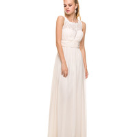 Preorder -  Ivory Chiffon Empire Waist Gown  2015 Prom Dresses