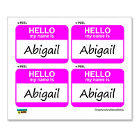 Abigail Hello My Name Is - Sheet of 4 Stickers