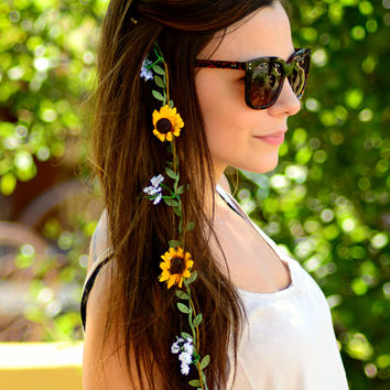 WOODSTOCK FLOWER HAIR EXTENSION