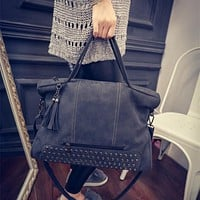 Large Chic Leather Crossbody Handbag Shoulder Bag
