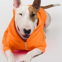 f997xo - Neon Orange Flex Fleece Dog Zip Hoodie (XL-2XL)