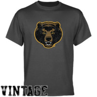 Baylor Bears Charcoal Distressed Logo Vintage T-shirt