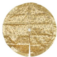 "Holiday Time 48"" Gold Glitter Snowflake Christmas Tree Skirt - Walmart.com"