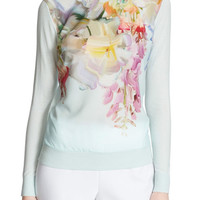 Ted Baker London 'Gertey - Hanging Flower' Print Sweater