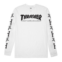 HUF X Thrasher White Long Sleeve Tee