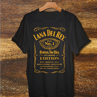 lana del rey shirt lana del rey born to die tshirt black grey and white color S-XXL size available