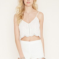 Embroidered Cropped Cami