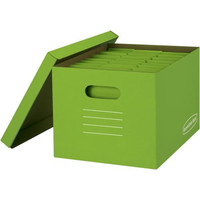 Set of 8 Bankers Box Boxes Basic-Strength Storage Boxes, 8-Pack