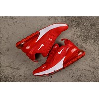 Nike Air Max 270 Red With White Logo Running Shoes