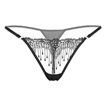 Sexy Women's Panties Lace Transparent G Strings And Thongs Solid Women Underwear Sexy Briefs bragas mujer  #427 GS