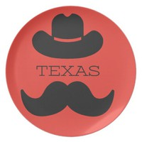 Texas in RED Plate