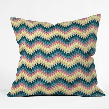 Belle13 Crazy Chevron Throw Pillow