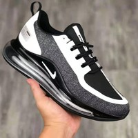 NIKE Air Max 720 stylish neutral breathable woven one-piece Air cushion running shoes