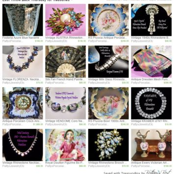 $99.00 Last Throw Back Thursday for Treasuries ~ by Patty Freeman on Etsy - Bestie.com