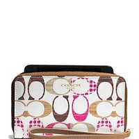 COACH East/West Universal Case in Drop Signature C Coated Canvas