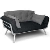 Walmart: Mali Flex Multi-Position Futon with Coal & Pewter Cushions, Silver Frame