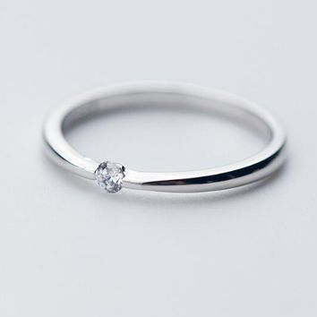 So tHIN Solitaire Small Ring Knuckle Ring fashion 100% REAL.925 Sterling Silver fINE jEWELRY GTLJ1282