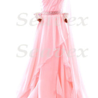 Ballroom Party Standard Waltz Tango Dance Dress US 8 UK 10  Pink Color