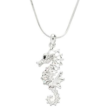 Seahorse Gemmed Body Necklace