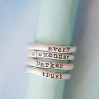 stacking rings {sterling silver} by Lisa Leonard Designs