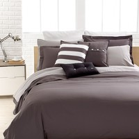 Lacoste Bedding, Solid Grey Brushed Twill Comforter and Duvet Cover Sets - Bedding Collections - Bed & Bath - Macy's