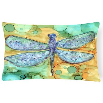 Abstract Dragonfly Fabric Decorative Pillow 8967PW1216